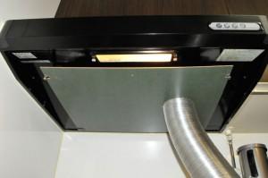 自作塗装ブースの排気部